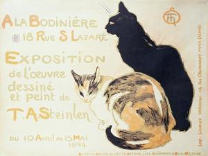 Exposition a La Bodiniere..., Poster Advertising an Exhibition of New Work, 1894 by Théophile Alexandre Steinlen