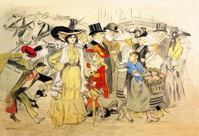 Le Boulevard, c.1900 by Théophile Alexandre Steinlen