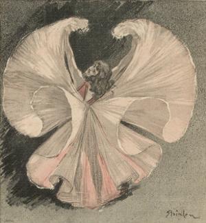 Loie Fuller (Mary Louise Fuller) American Dancer at the Folies Bergere Paris by Théophile Alexandre Steinlen