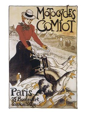 Motocycles Comiot by Théophile Alexandre Steinlen