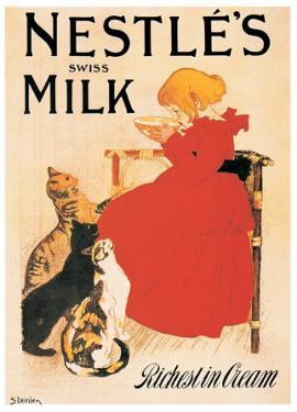 Nestle's Milk by Théophile Alexandre Steinlen