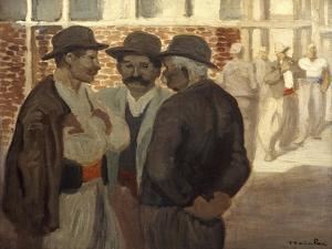 Ouvriers Du Batiment' ('Construction Workers), C1911 by Theophile Alexandre Steinlen