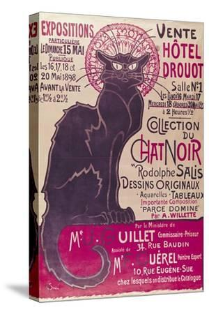Poster Advertising an Exhibition of the Collection Du Chat Noir Cabaret at the Hotel Drouot, Paris
