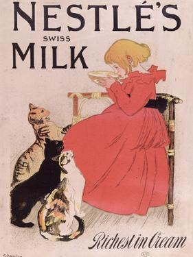 Poster Advertising Nestle's Swiss Milk, Late 19th Century by Théophile Alexandre Steinlen