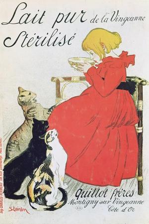 Poster Advertising Pure Sterilised Milk from La Vingeanne