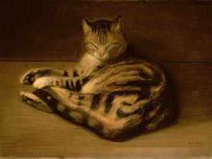 Recumbent Cat, 1898 by Théophile Alexandre Steinlen