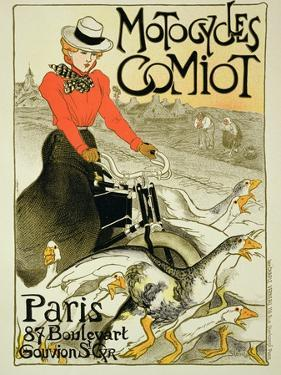 Reproduction of a Poster Advertising Comiot Motorcycles, 1899 by Théophile Alexandre Steinlen