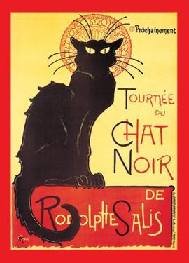 Steinlen - Chat Noir by Théophile Alexandre Steinlen