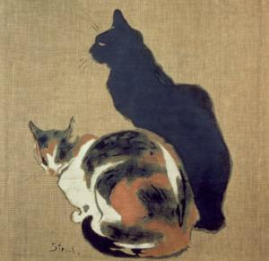 Two Cats, 1894 by Théophile Alexandre Steinlen