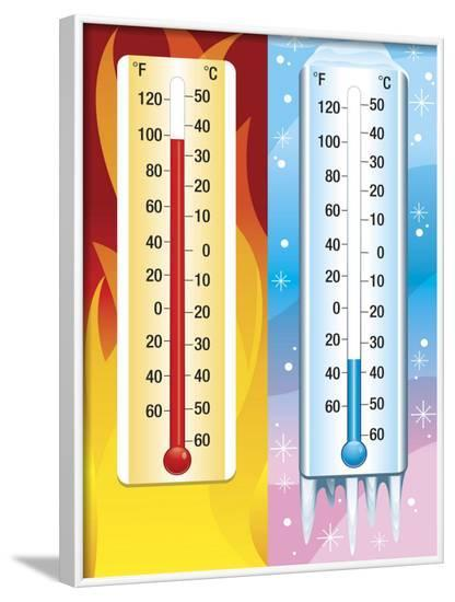 Thermometers in Heaven and Hell--Framed Photo