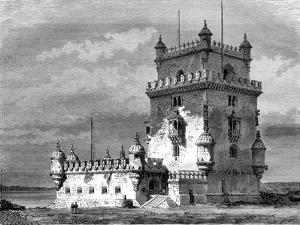 Belém Tower, Lisbon, Portugal, 19th Century by Therond