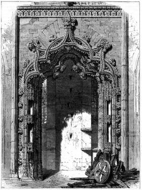 Door of the Imperfect Chapel, Monastery of Batalha, Portugal, 1886 by Therond