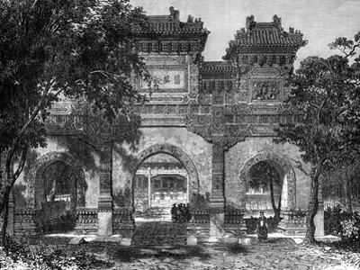 Temple of Confucius, Peking, China, 19th Century by Therond