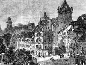 The Panierplatz in Nuremberg, Germany, 19th Century by Therond