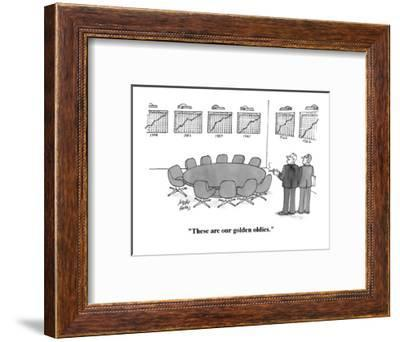 """""""These are our golden oldies."""" - Cartoon-Joseph Farris-Framed Premium Giclee Print"""