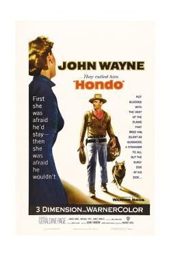"""They Called Him Hondo, 1953, """"Hondo"""" Directed by John Farrow"""