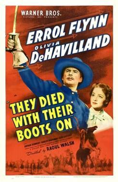 They Died With Their Boots On, Errol Flynn, Olivia De Havilland, 1941