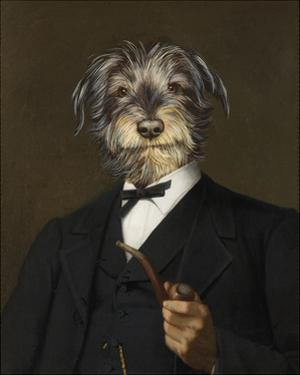 Cairn Terrier With A Pipe by Thierry Poncelet