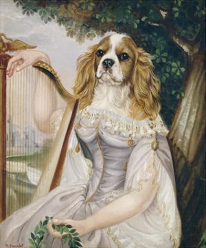Demoiselle a la Lyre by Thierry Poncelet