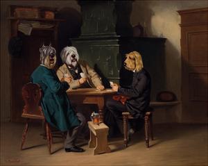 Les joueurs de cartes by Thierry Poncelet