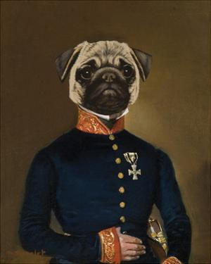 Pug Arrives by Thierry Poncelet