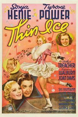 Thin Ice, Sonja Henie, Tyrone Power, Arthur Treacher, Joan Davis, 1937
