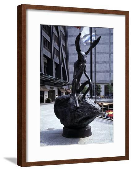 Thinker on Rock, 1997-Barry Flanagan-Framed Giclee Print