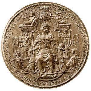 Third Great Seal of Queen Anne, Obverse, 1702-1714