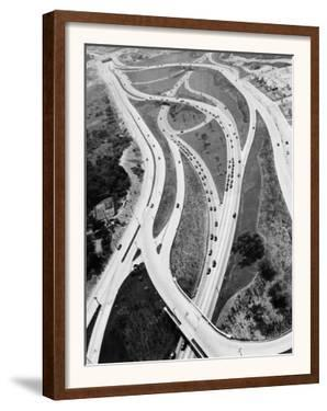 This 1937 Aerial View Shows the Biggest of Highway Crossover Points