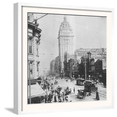 This Ca. 1900 Photograph Shows a Street Scene in San Francisco, California