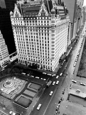 This General View Shows the Plaza Hotel on Fifth Avenue and Central Park South