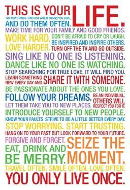 This is Your Life Motivational Quote - Colors