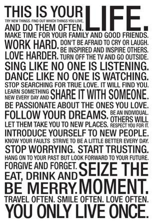 Life Quote Posters Inspiration Motivational Quote Posters Posters At Allposters