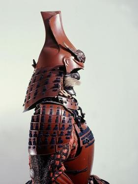 This Suit of Armour Bears a Buddhist Gold Lacquer Inscription on the Breastplate