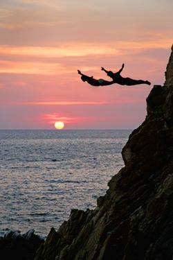 Acapulco Cliff Divers at Sunset by Thom Lang
