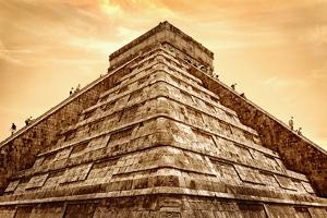Tourists Climb the Pyramid of Kukulcan by Thom Lang