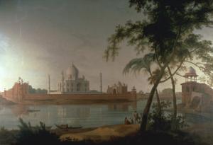 The Taj Mahal at Arga taken from across the River Jumna, c.1798 by Thoma Daniell
