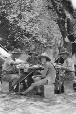 Meal Time, Livingstone to Broken Hill, Northern Rhodesia, 1925 by Thomas A Glover
