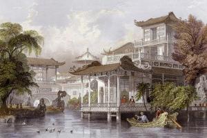 Canton Merchant House by Thomas Allom