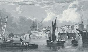 Dock - Yard, Devonport by Thomas Allom