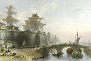 Peking West Gate by Thomas Allom