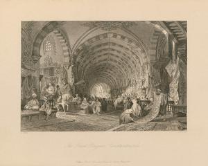 The Great Bazaar, Constantinople by Thomas Allom
