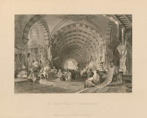 The Great Bazaar, Constantinople by Thomas Allom