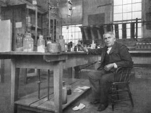 Thomas Alva Edison in His Workshop