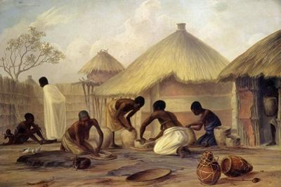 Manufacture of Sugar at Katipo - Making Pots to Contain It by Thomas Baines