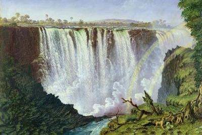 The Great Western Fall, Victoria Falls, 1862 by Thomas Baines