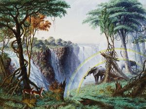 The Mosi-Oa-Tunya (The Smoke That Thunders) or Victoria Falls, Zambesi River by Thomas Baines