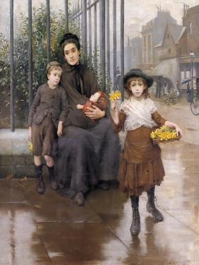 The Pinch of Poverty, 1889 by Thomas Benjamin Kennington