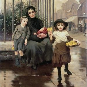 The Pinch of Poverty, 1891 by Thomas Benjamin Kennington