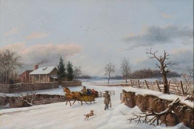 Sleighing Scene Near Philadelphia, 1841 by Thomas Birch